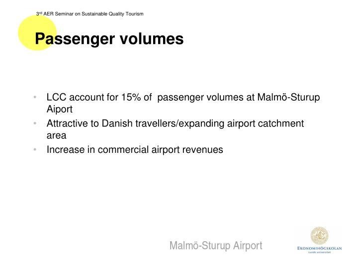 Passenger volumes