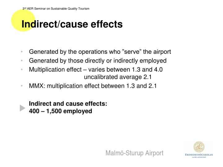 Indirect/cause effects