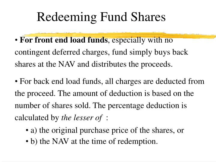 Redeeming Fund Shares