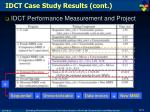 idct case study results cont