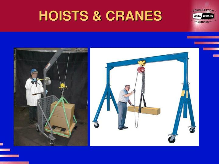 HOISTS & CRANES