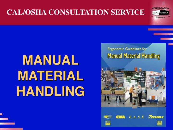 CAL/OSHA CONSULTATION SERVICE