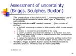 assessment of uncertainty briggs sculpher buxton