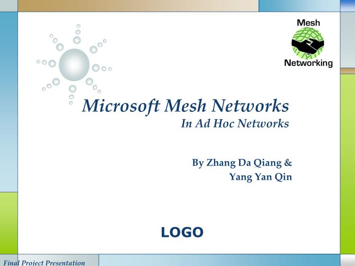 Microsoft mesh networks in ad hoc networks