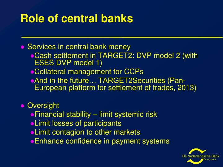 Role of central banks