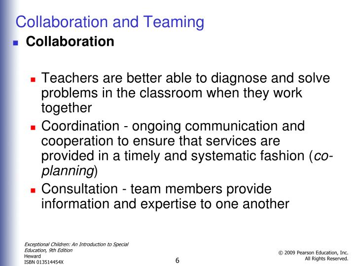 Collaboration and Teaming
