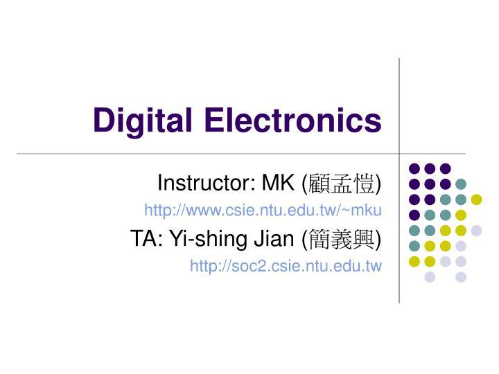 digital electronics n.
