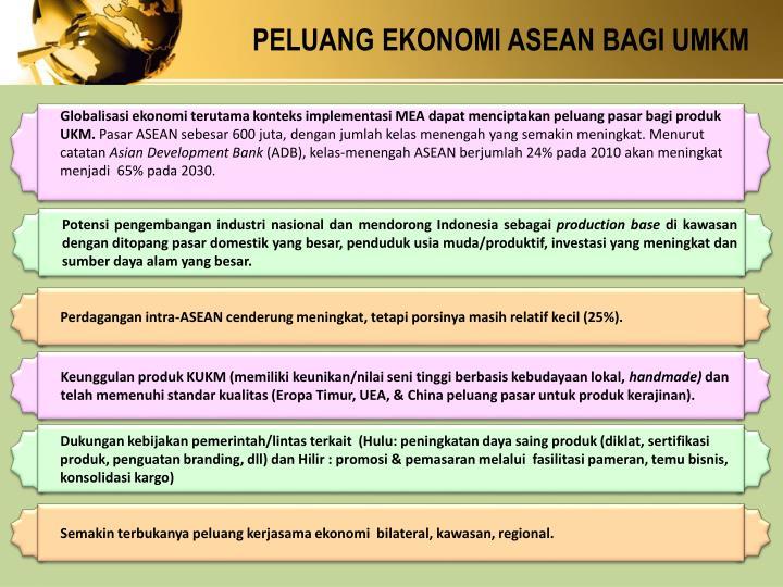 PELUANG EKONOMI ASEAN BAGI UMKM