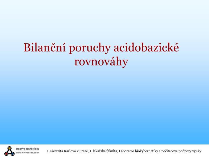 Bilanční poruchy acidobazické rovnováhy