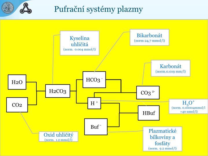 Pufrační systémy plazmy