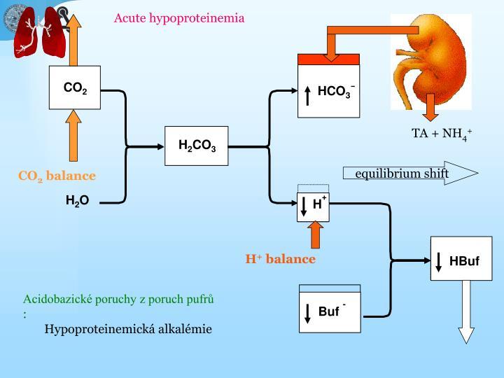 Acute hypoproteinemia