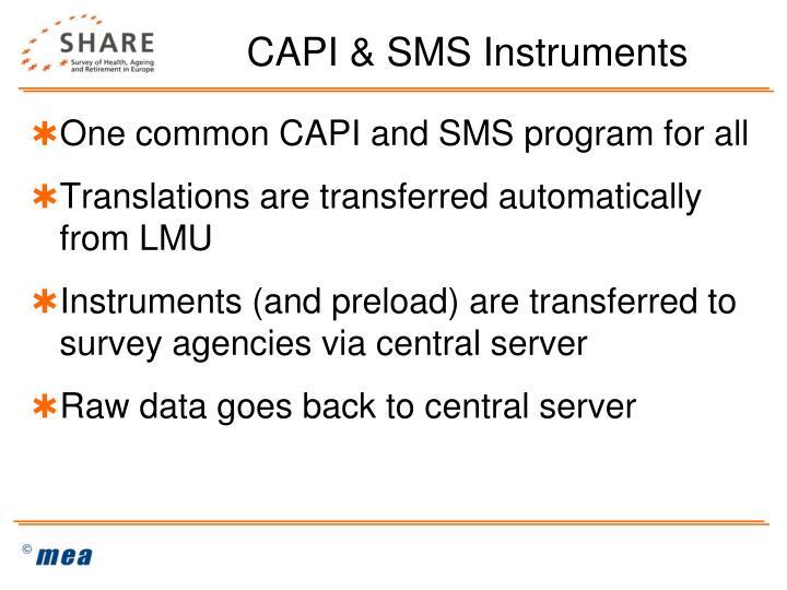 CAPI & SMS Instruments