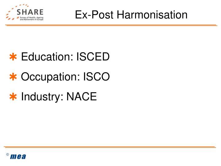 Ex-Post Harmonisation