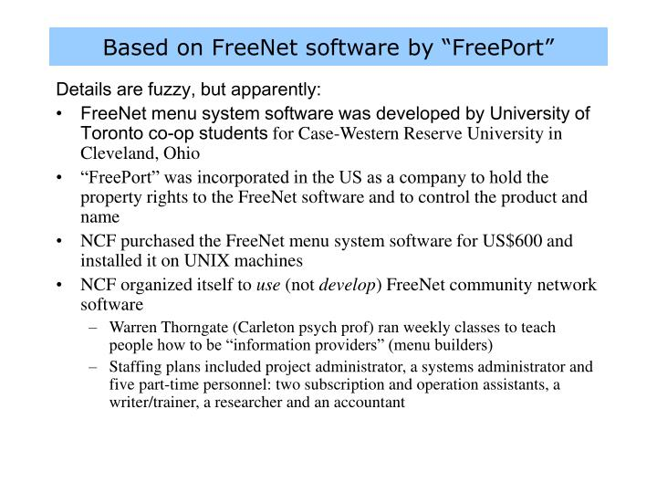 """Based on FreeNet software by """"FreePort"""""""