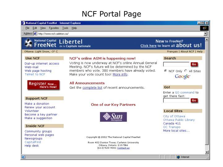 NCF Portal Page