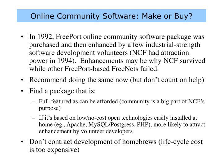 Online Community Software: Make or Buy?