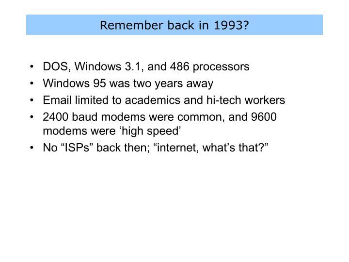 Remember back in 1993?