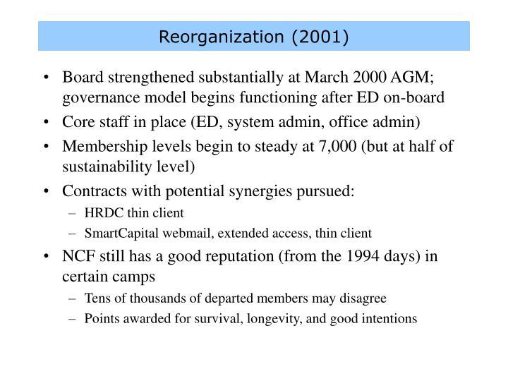 Reorganization (2001)