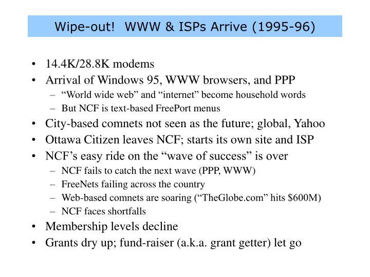 Wipe-out!  WWW & ISPs Arrive (1995-96)