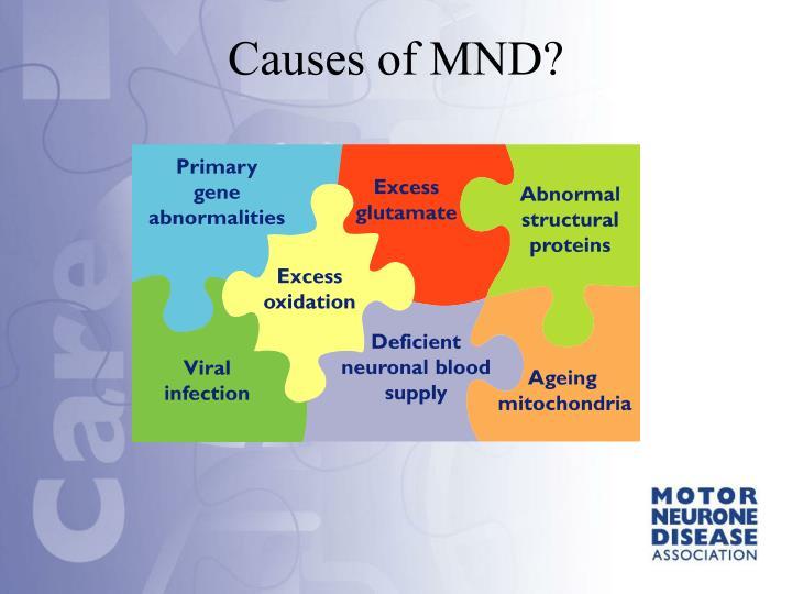 Causes of MND?