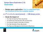 design space exploration 1 5 overview