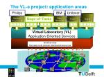 the vl e project application areas1