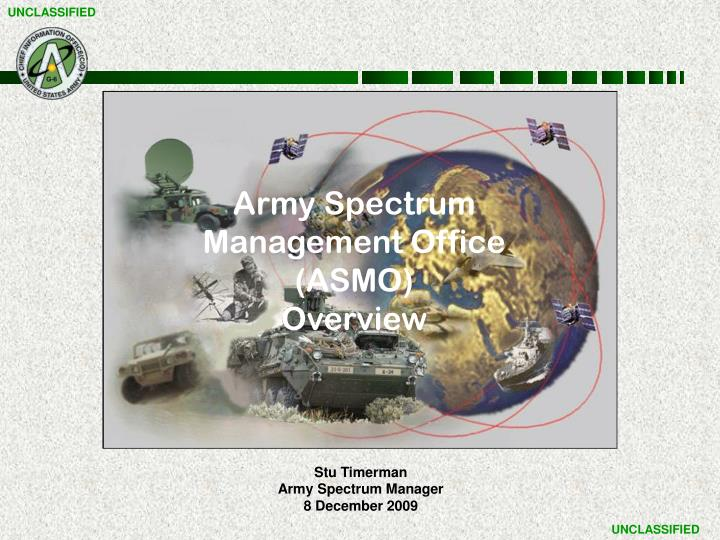 Ppt stu timerman army spectrum manager 8 december 2009 army spectrum management office asmo toneelgroepblik Images