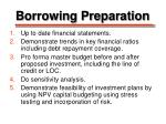 borrowing preparation