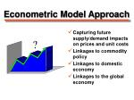 econometric model approach
