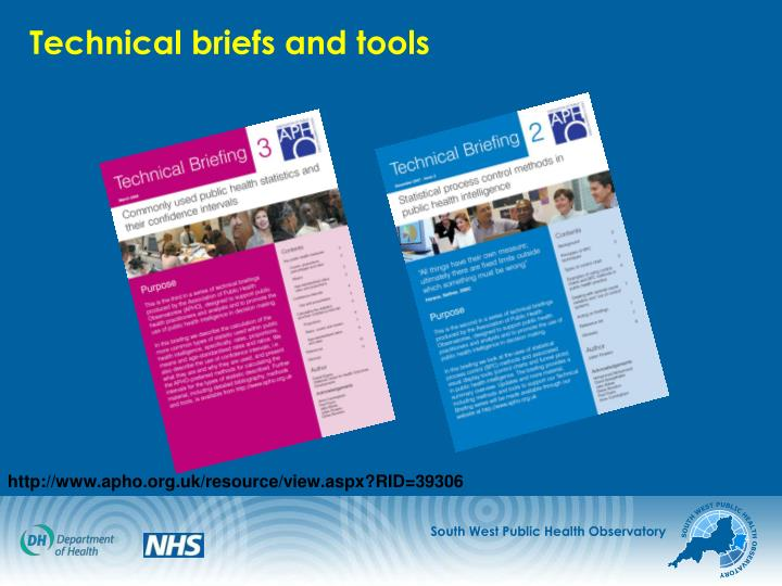 Technical briefs and tools