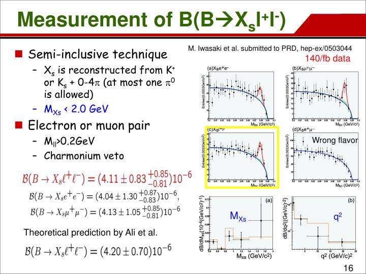 Measurement of B(B