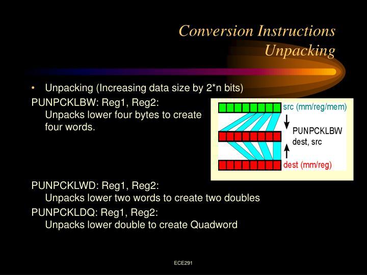 Conversion Instructions