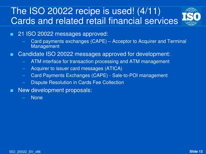 21 ISO 20022 messages