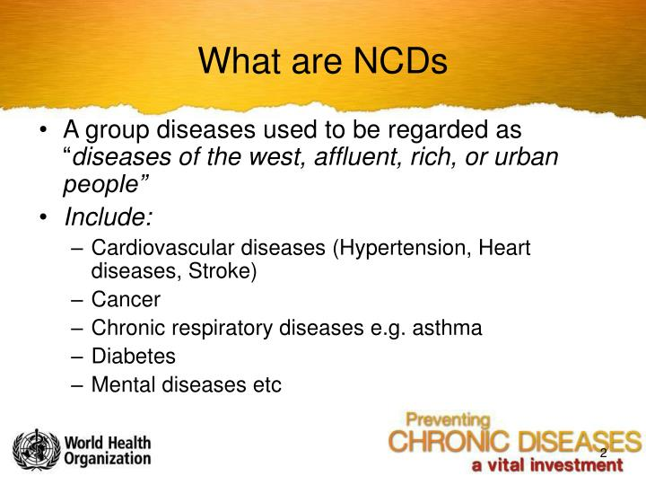 What are ncds