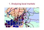 1 analysing local markets