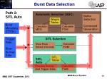 burst data selection5