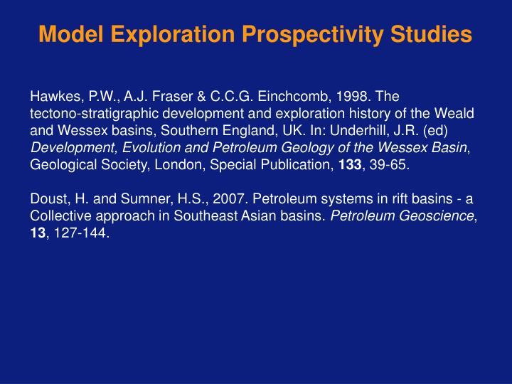 Model Exploration Prospectivity Studies