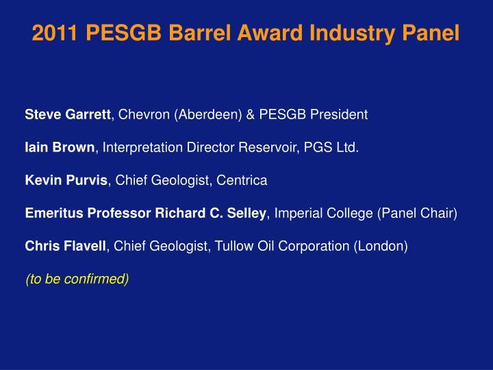 2011 PESGB Barrel Award Industry Panel