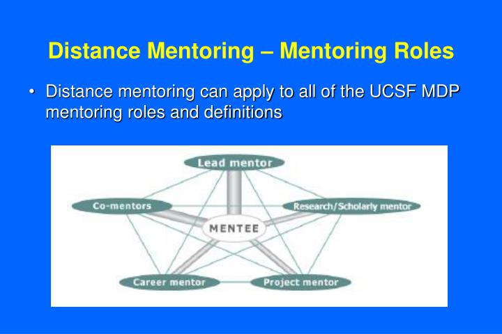 Distance mentoring mentoring roles