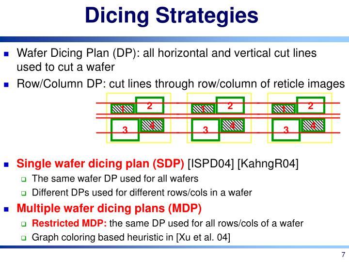 Dicing Strategies