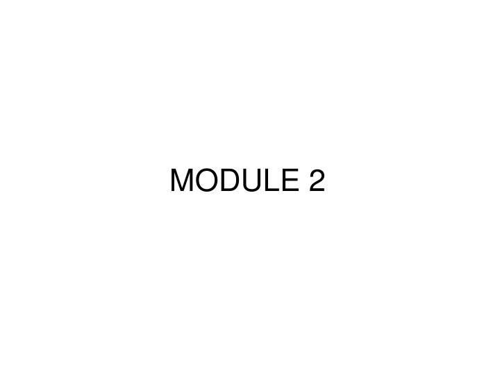 module 2 n.