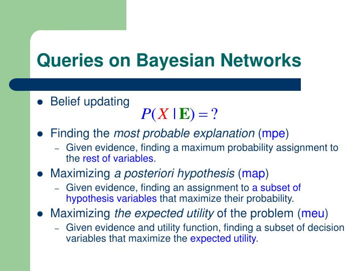 Queries on Bayesian Networks