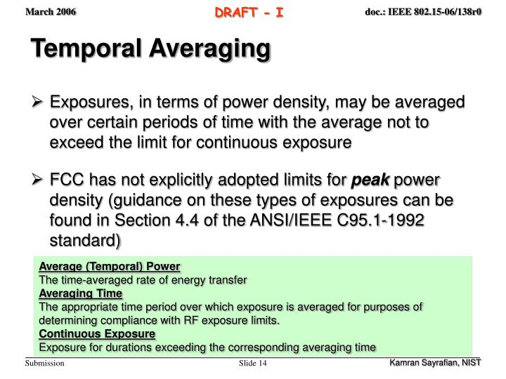 Temporal Averaging