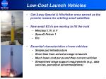 low cost launch vehicles