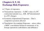 chapters 8 9 10 exchange risk exposures