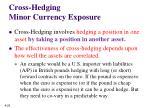 cross hedging minor currency exposure1