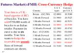 futures market fmh cross currency hedge