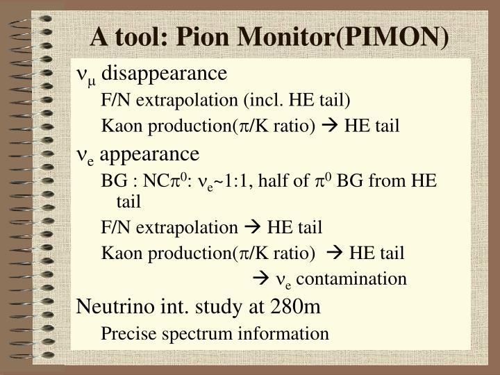 A tool: Pion Monitor(PIMON)