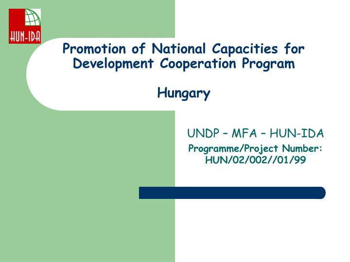 promotion of national capacities for development cooperation program hungary