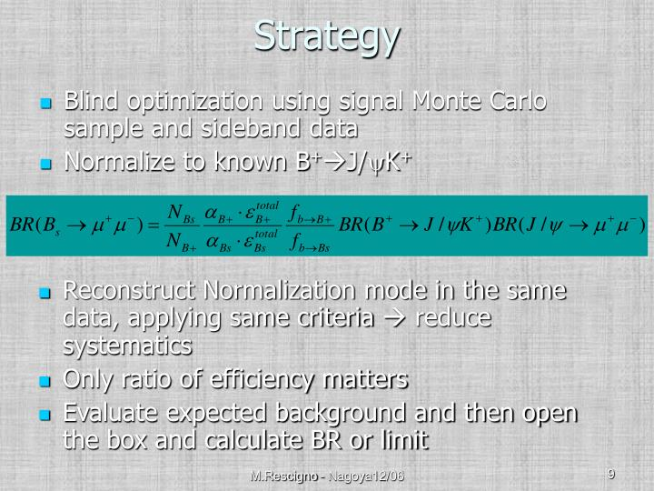 Blind optimization using signal Monte Carlo sample and sideband data